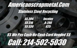 Scrap stainless steel recycling